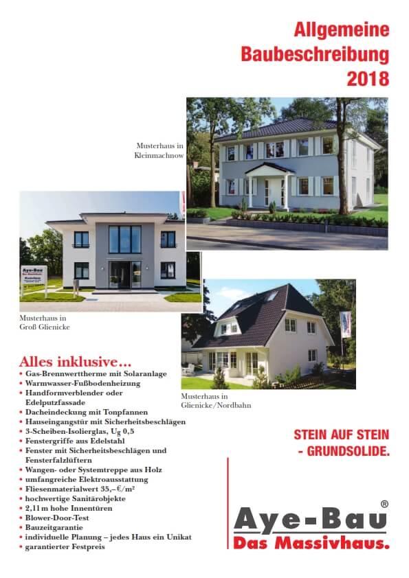 Allgemeine Baubeschreibung